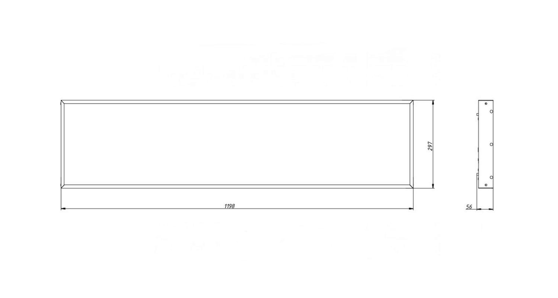 Габаритные размеры LL-DVO-041-M1200x300