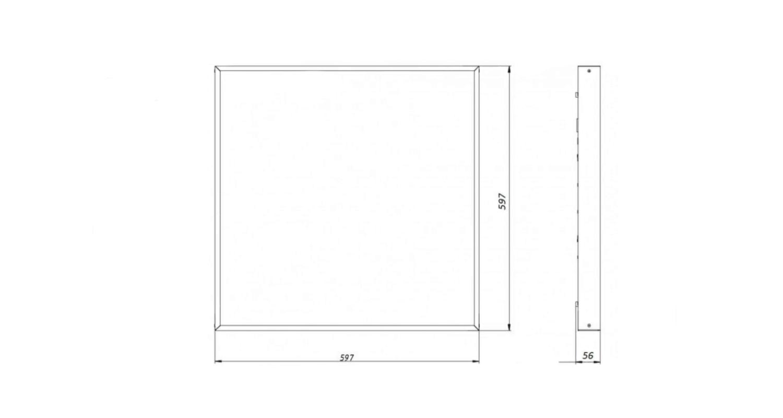 Габаритные размеры LL-DVO-041-M600x600 (арт.71004022061100)