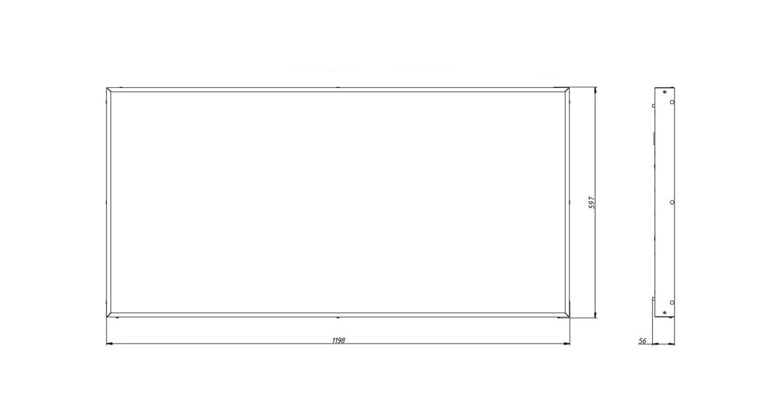 Габаритные размеры LL-DVO-082-M1200x600 (арт.71006062071100)