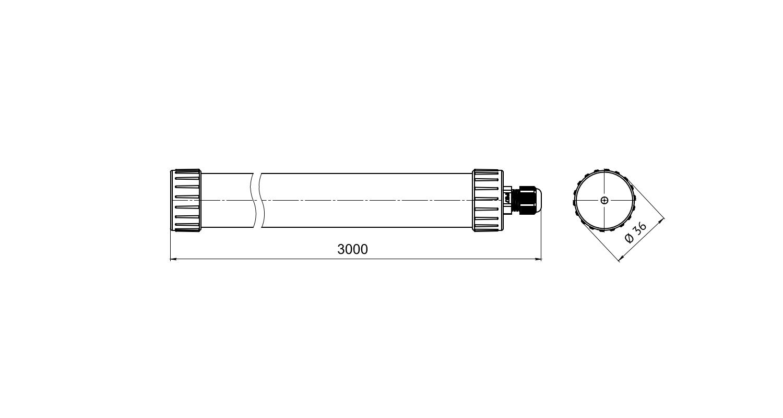 Габаритные размеры LL-Tube-300-111