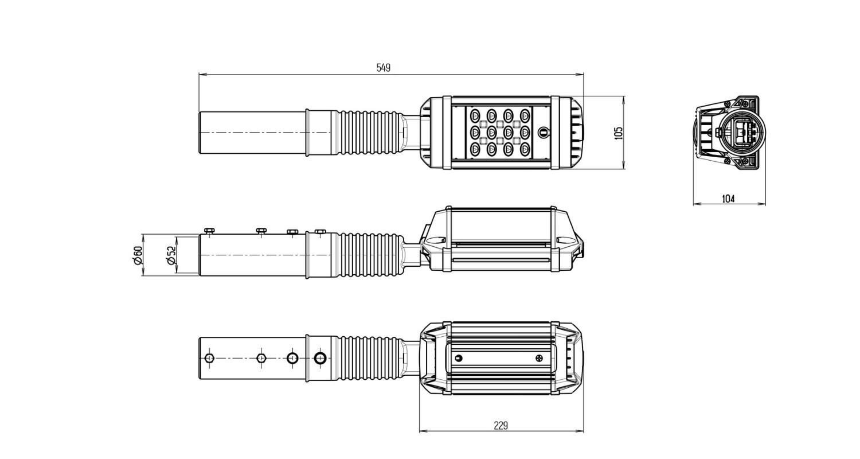 Габаритные размеры MAG3-018-112 (арт.71101041011010)