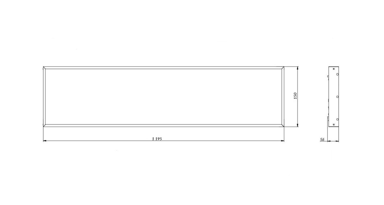 Габаритные размеры LL-DVO-020-M1200x150