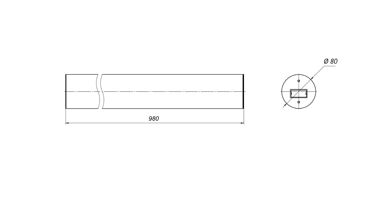 Габаритные размеры PlantaLux-45 UPPER