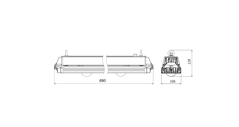 Габаритные размеры PLANTALUX-HP-150