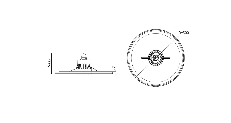 Габаритные размеры SLIMDISC.1-50-D300-25 (арт.70014022071104)
