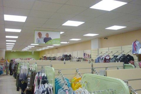 Светодиодное освещение торгового зала детского магазина