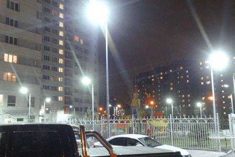 Светодиодное освещение жилого квартала в Люберцах