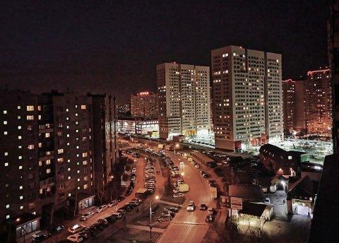 Освещение жилого квартала в Люберцах
