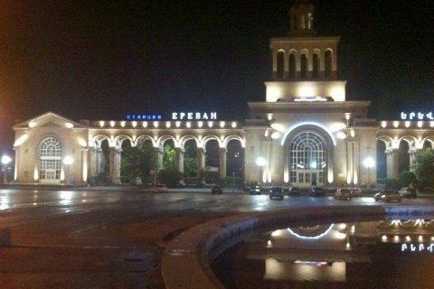 Светодиодная фасадная подсветка вокзала