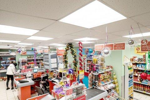LED светильники ЛидерЛайт серии OFFICE в магазине Пятерочка
