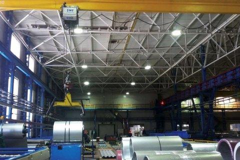 Модернизации системы освещения цехов