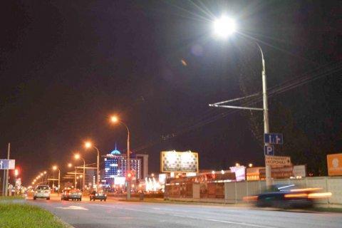 Освещение улице Московская (Брест)