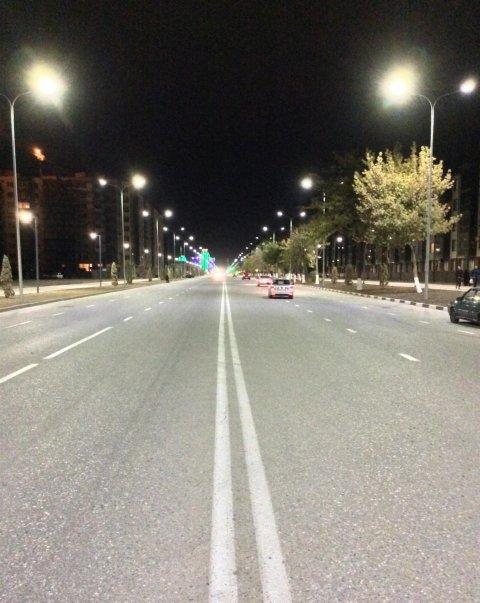 Освещению проспекта Мухаммеда Али в г. Грозный