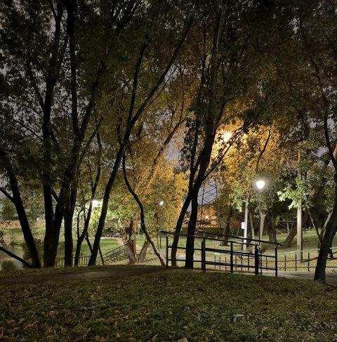 Светодиодное освещение парка