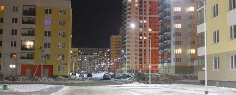 Освещение жилого квартала г. Екатеринбург