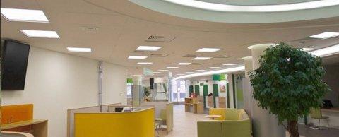 Освещение офиса банка г. Одинцово Московская область