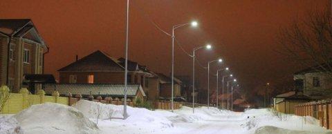 Освещение жилого квартала г. Тюмень