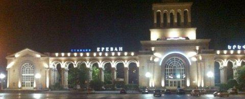 Освещение ЖД вокзала Ереван