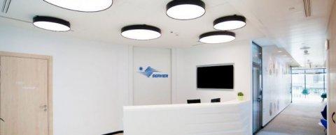 Светильники для офиса фармацевтической компании «Сервье»