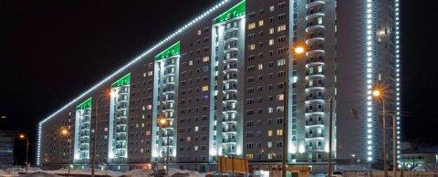 Фасадное освещение жилые и торговые комплексы, храм г. Сургут